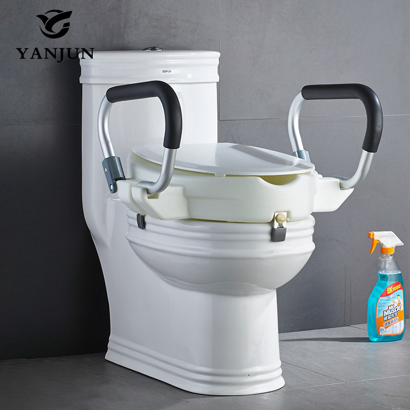 Yanjun Portable Raised Toilet Seat With Padded Handles