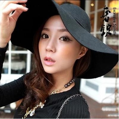 2015 New Stylish Vintage Women\'s Lady with Wide Br...