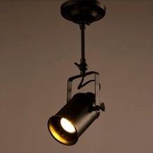 Лофт бар настенный зонд промышленный подвесной светильник черный E27 Edison светильник s Точечный светильник s магазин одежды потолочный светильник
