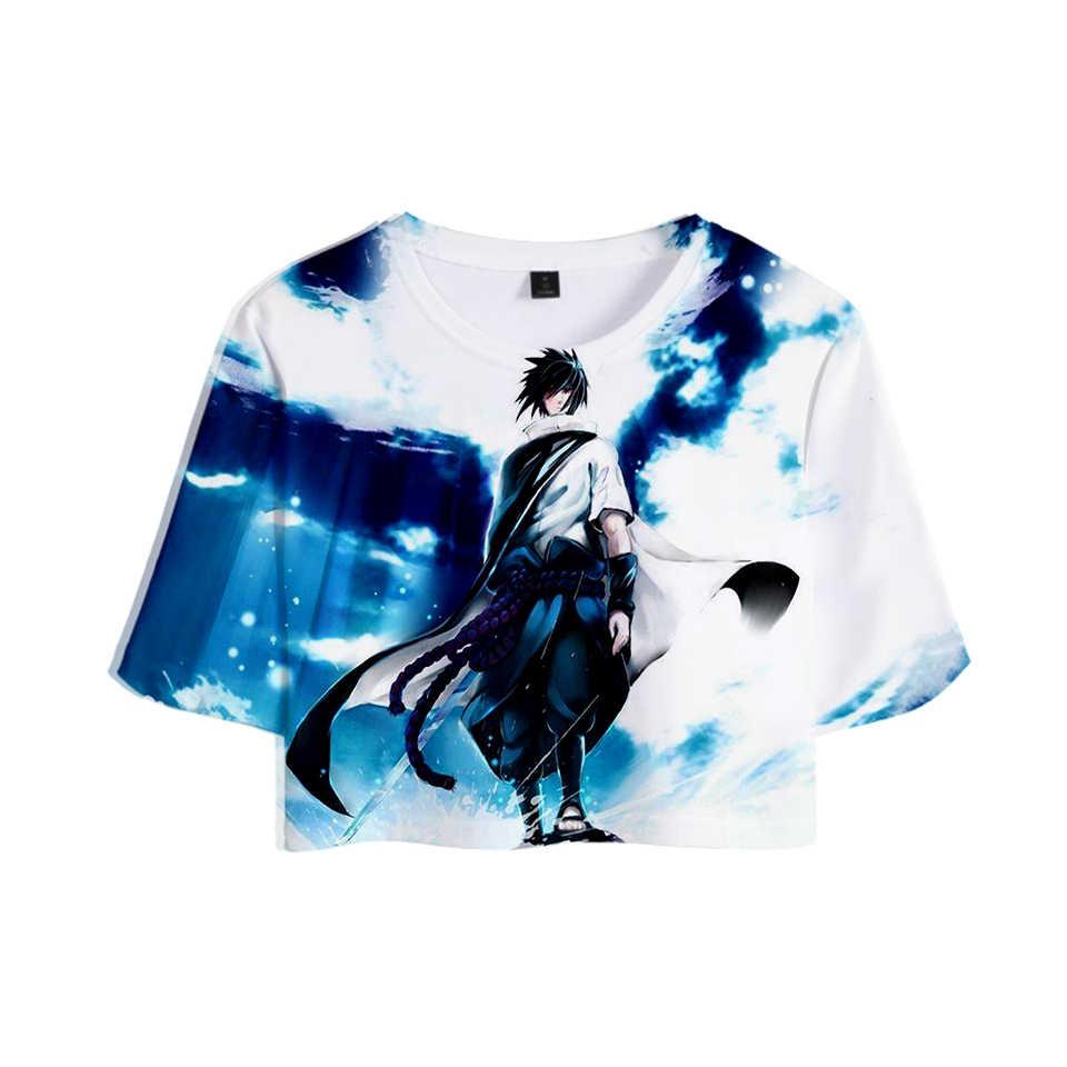 ナルト 3D プリント女性クロップトップスファッション夏半袖 Tシャツ 2019 ホット販売原宿カジュアルストリート Tシャツ
