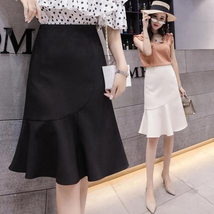 Oficina Cintura Pure Tienda classical damas Sirena Mujeres Alta Formal Gratis Laura Trompeta White Envío Black De Falda qR8tHHfAw