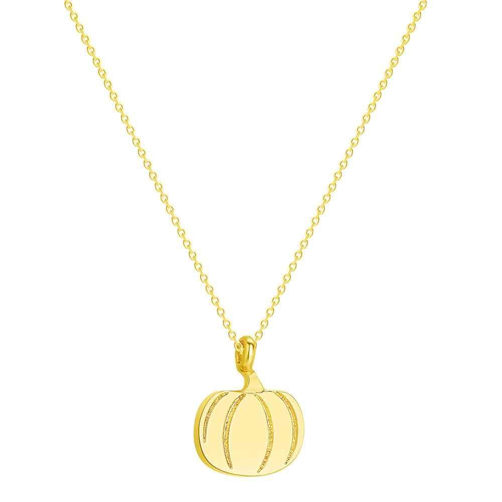 Chandler Pumpkin naszyjnik róża w kolorze różowego złota złoty kolor roślin Tiny wisiorek proste codzienne Callors biżuteria halloweenowa Drop Shipping