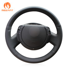 722ec199c3 MEWANT Black Artificial Leather Car Steering Wheel Cover for Citroen Triumph  C4 2005-2010