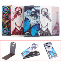 Fashion Colorful Pattern Vertical Back Cover PU Leather Case For Huawei Honor V8 Flip Cover Magnetic
