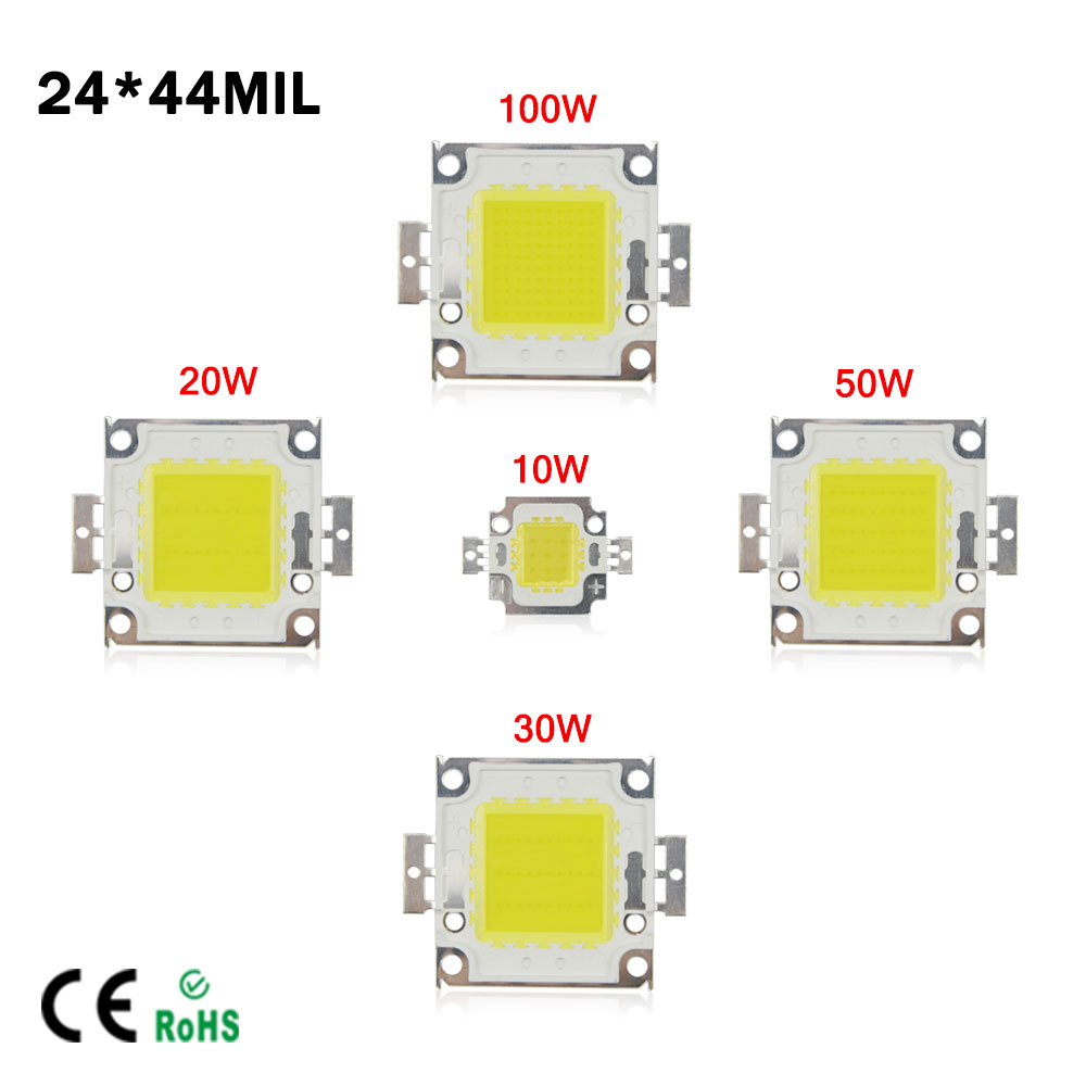 White / Warm White 10W 20W 30W 50W 100W LED light Chip DC 12V 36V COB Integrated LED lamp Chip DIY Floodlight Spotlight Bulb diy 20w 3000k 2100lm square cob led module dc 36 45v