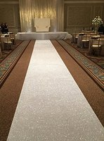 Wedding Party Glitter White Carpets Decoration Mariage Shiny Sequin Rug Aisle Runner 4ftx25ft 1 2cmx750cm Gold