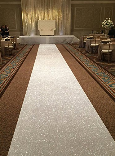 Wedding Party Glitter White Carpets Decoration Mariage