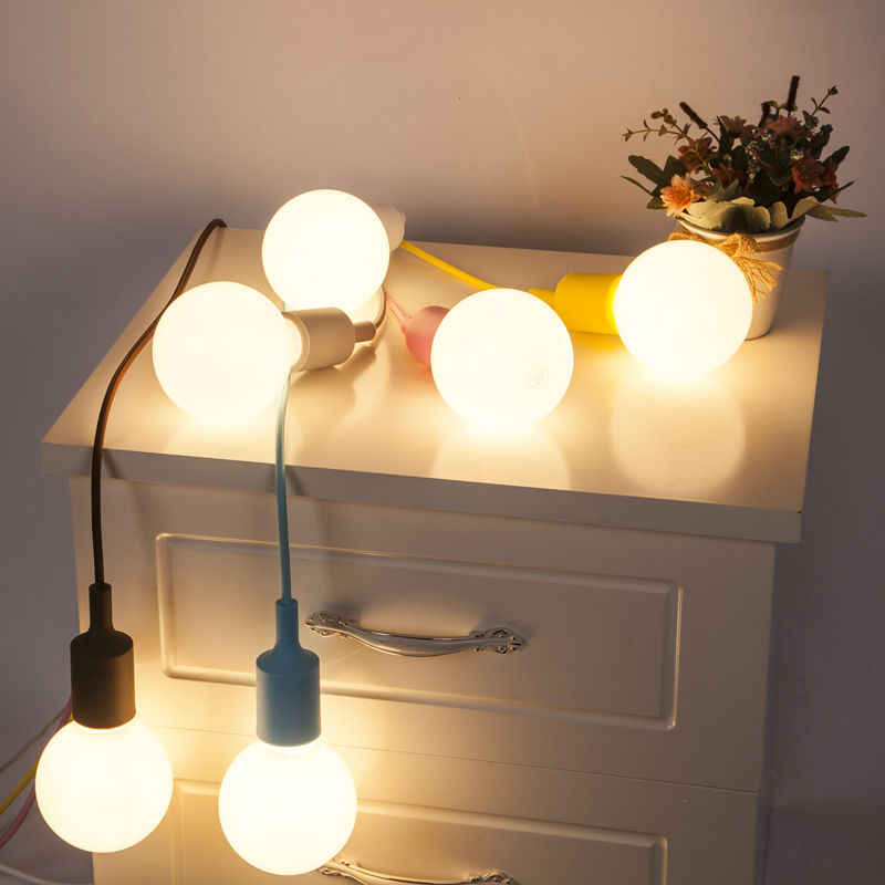 Современные цветные висячие светильники обеденный люстра силикагелевый материал тринадцать Цвета E27 держатель AC90-260V