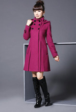 2015 New Women Fashion Winter Wool Cashmere Cape Shawl Large Size Windbreaker Long Hooded Jacket Coat Plus Size Outerwear Q1628