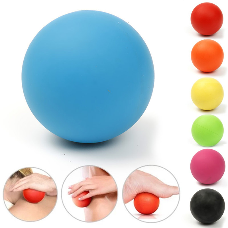 High Quality Rubber 6cm Ball Tool Mobility Trigger Point Body Massager Arm Back Leg Muscle Pain Relief Health Care 7 Colors