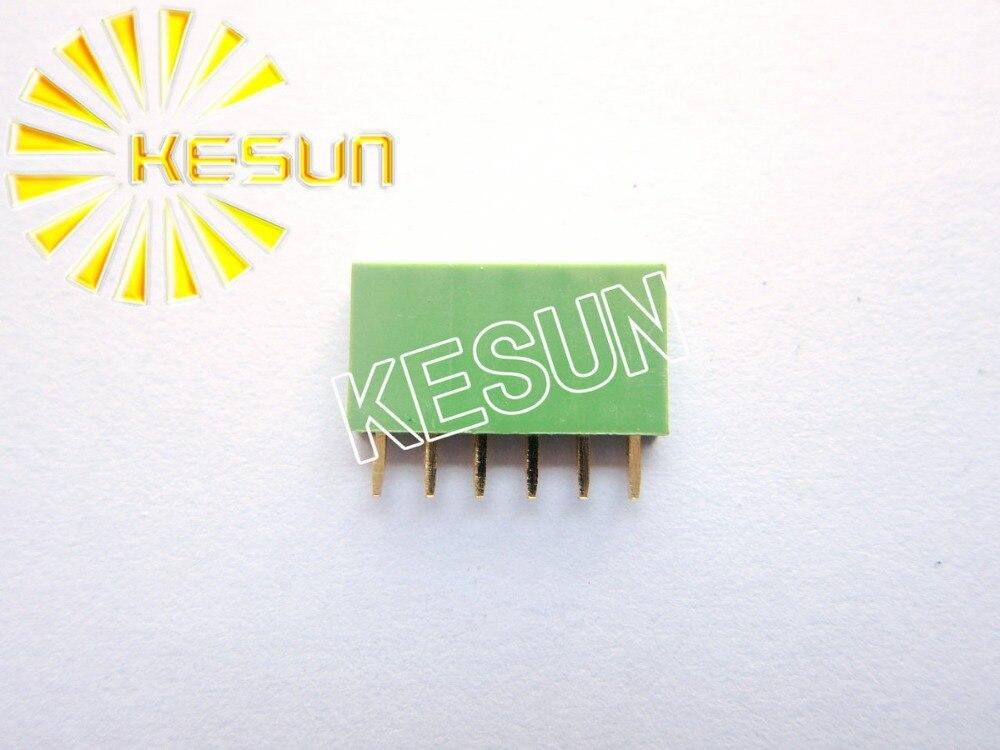 2.54MM 1X6 6Pin Green Female Pin Header Strip x 100PCS FREE SHIPPING