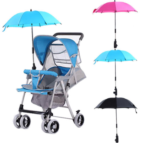 Baby Stroller Accessories Sun Rain Parasol Umbrella Clip Baby Stroller Wheelchair Pram Pushchair Anti-UV Stroller Umbrella