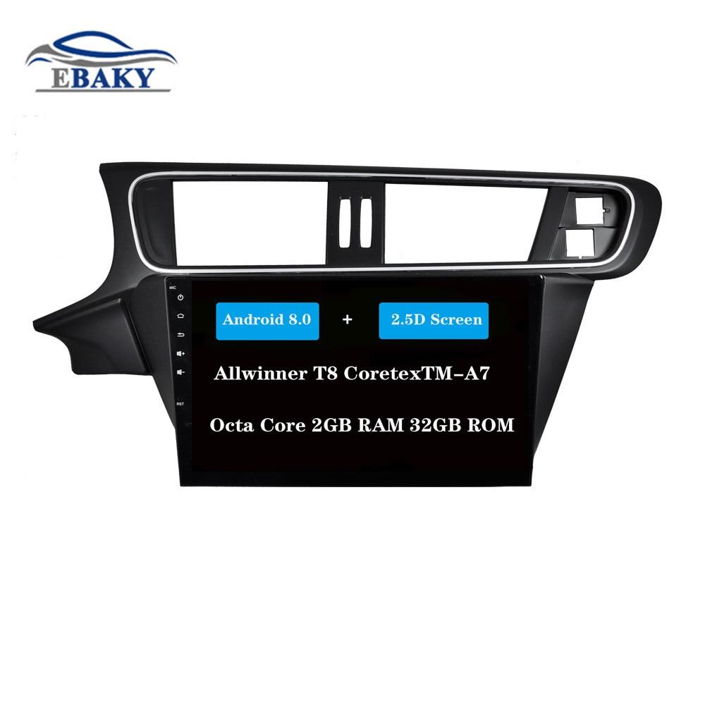 NaviTopia 10.1inch Octa Core Android 7.1 8.1 Car DVD GPS Navigation for Citroen C3 XR 2014 Auto Multimedia Radio Stereo