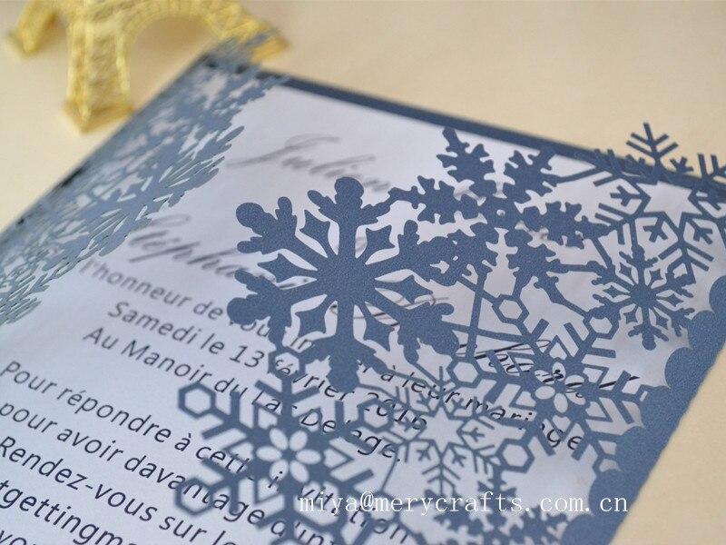 elegant paper snowflake invitations for birthday wedding christmas