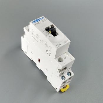 TOCT1 2P 25A 220V 230V 50 60HZ na szynę Din domowy stycznik modułowy ac z ręcznym przełącznikiem sterowania 2NO lub 1NO 1NC lub 2NC tanie i dobre opinie TOMZN Other TOCT1-25M