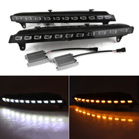 For Audi Q7 2006 2009 Car Light Assembly Auto LED DRL Driving Daytime Running Light Driving Lamp White Yellow D35