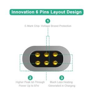 Image 5 - Adaptateur de USB C de Type magnétique, chargeur PD de soutien et transmission de données (10Gbp/s), Charge rapide PD100W de livraison de puissance USB3.1 type c