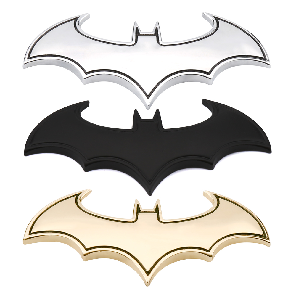 3D Car Stickers Cool Metal Bat Auto Logo Car Styling Metal Batman Badge Emblem Tail Decal Motorcycle Car Accessories Automobiles 3d metal auto car performance badge decal fender emblem for trd sports racing