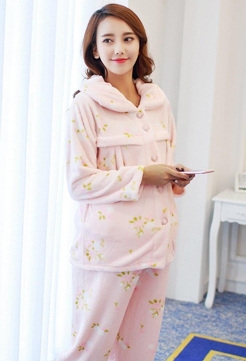 Maternity Pajamas Set Pregnancy Printed Nursing Sleepwear Sexy