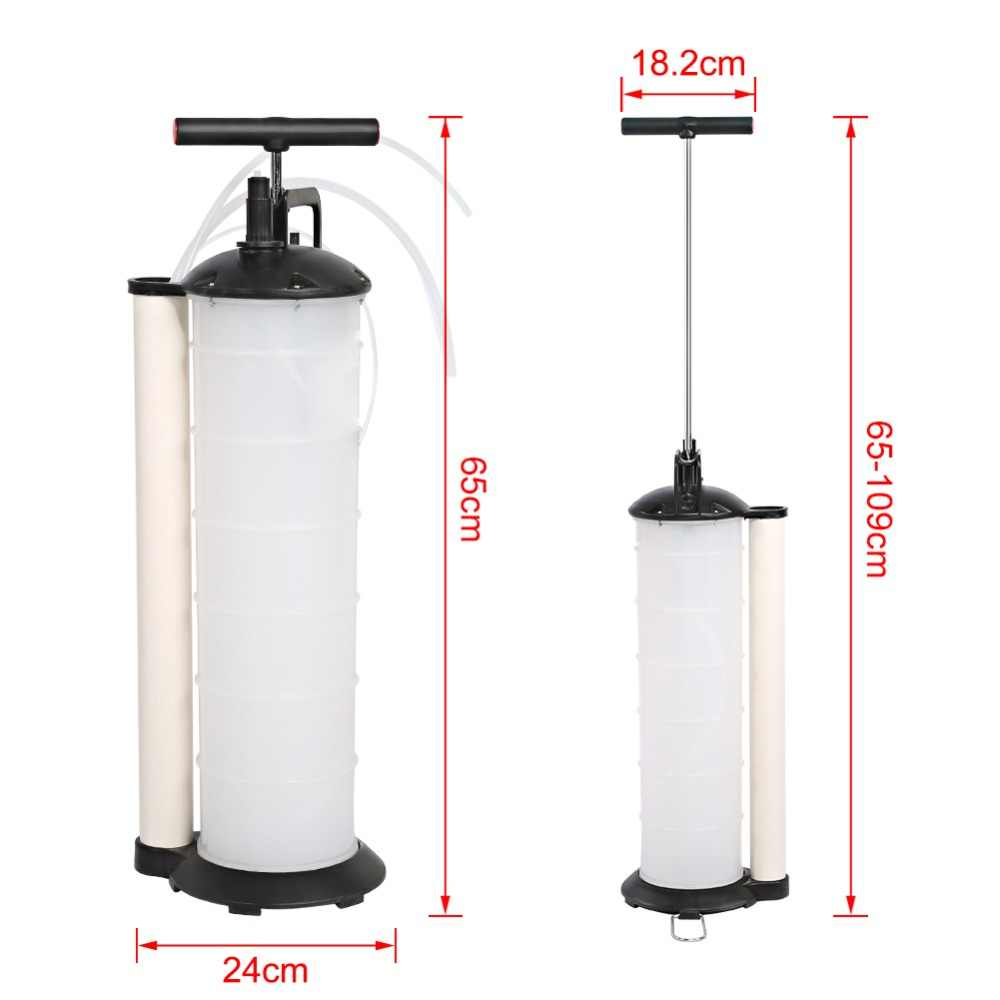 7L ручной автомобильный насос для всасывания воды, отработанного масла, вакуумная Передача жидкости, вращающийся инструмент на 90 градусов
