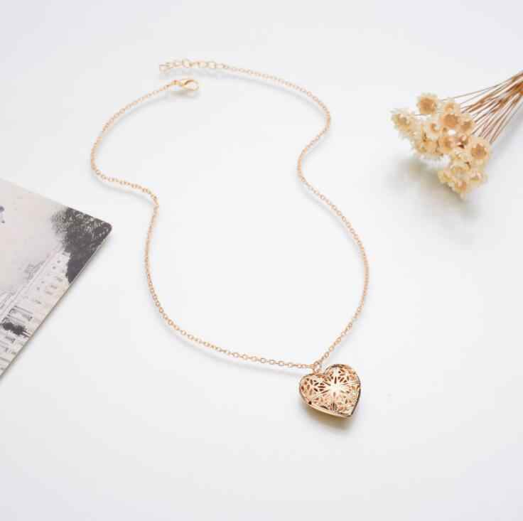 2018 новое Настоящее Позолоченное серебряное пустое сердце-образный кулон ожерелье для женщин Подарки ювелирные изделия аксессуары прекрасный милый фото коробка