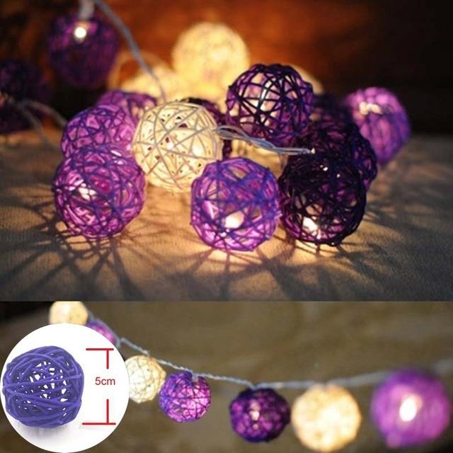 Aliexpress Buy YIMIA 5m 20 Rattan Balls LED String Fairy Light