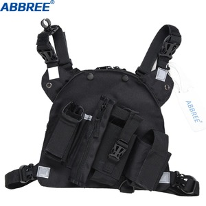 Image 3 - ABBREE Radio Chest Harness Chest Front Pack Pouch Holster Vest Rig for Two Way Radio Walkie Talkie(Rescue Essentials)