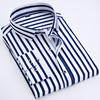 Business men casual fashion stripe long sleeved shirts 5