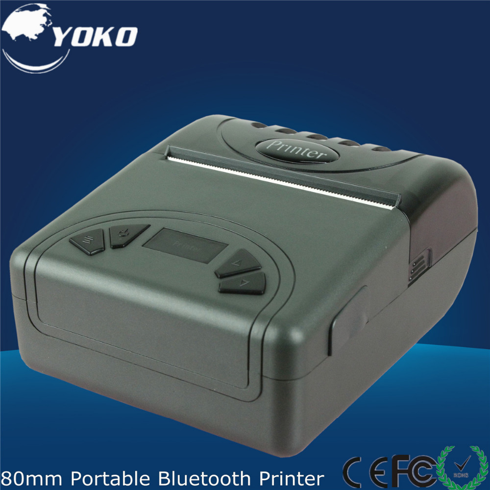 80mm small size Portable Bluetooth Thermal receipt Printer Pos System retail supermarket Free shipping