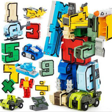 Creative Magic Number Transformation robot Number Toy Digital Deformation Robot Building Blocks Numbers Robots Action Figures 19cm height transformation deformation robot toy action figures toys with original box jj616c