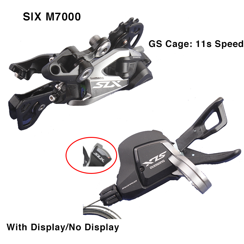 SHIMANO DEORE SLX M7000 Groupset SHIFT LEVER With REAR DERAILLEUR MTB 11s SPEED M7000 SL+RD GS shimano slx m7000 1x11 11s speed 11 42t 11 46t groupset contains shift lever