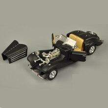 1:28 Benz 500K Alloy Model Car Classic Retro Mini Collective car Model Toy Pull back Acousto-optic
