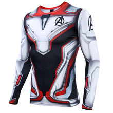 Avengers 4 Endgame Quantum War 3D Printed T shirts Men Compression Shirt Cosplay Costume Long Sleeve Tops For Male Fitness Cloth(China)