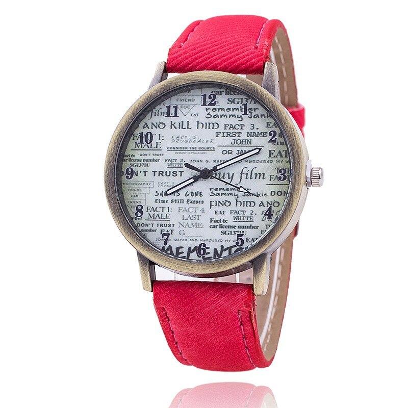 Big Teeth Dial Men Casual Sports Watch PU Leather watches Geneva Watch female vintage femmes Quartz Wristwatches Cretive gift