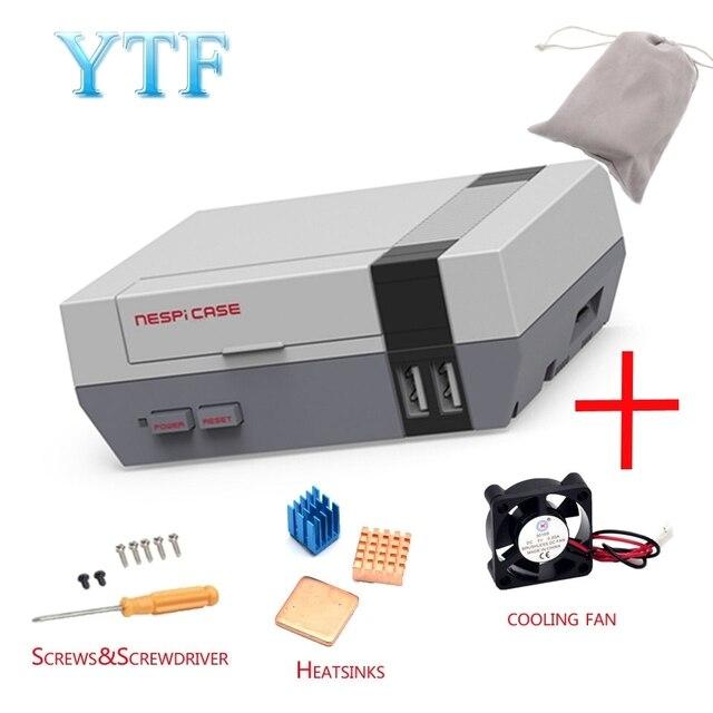 Funda de gran calidad para Mini NES nesp, con ventilador de refrigeración diseñado para Raspberry Pi 4 3 / 2 / B +