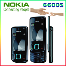 6600S 100% original phone Nokia 6600 slide refurbished cell phone Black color in Stock Freeshipping