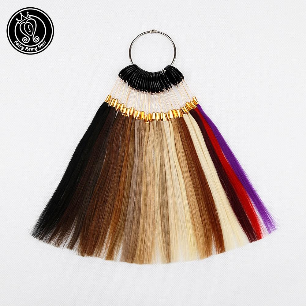 Cheveux Remy 100% naturels-fée | Anneaux de couleur/graphiques de couleurs, 26 couleurs, peut être teint, pour Salon, livraison gratuite