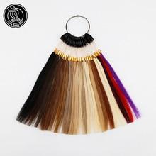 Fee Remy Haar 100% Remy Menschenhaar Farbe Ringe/Farbe Charts 26 Farben Erhältlich Kann Gefärbt Für Salon probe Freies Verschiffen