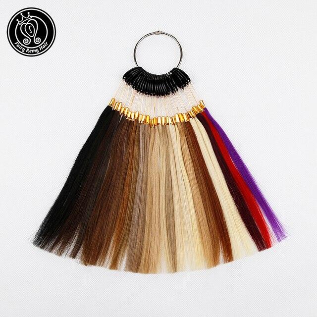 Mèches de cheveux naturels 100% Remy pour Salon, bagues/lot de couleurs disponibles, 26 couleurs, peuvent être teints pour échantillon, livraison gratuite