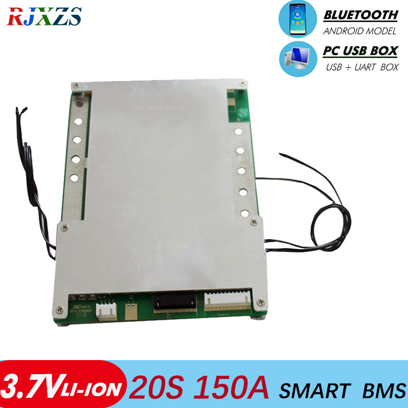 smart bms 20S 150A new Li ion smart bms pcm with android Bluetooth app UART correspondence