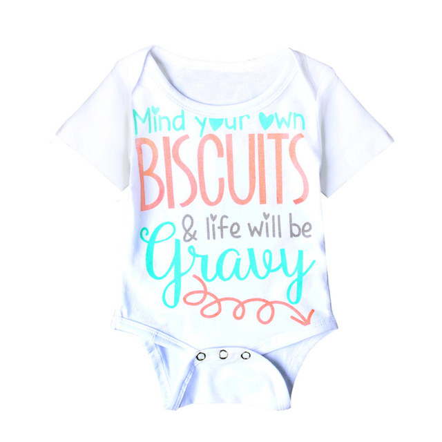 7e855ad13 Summer New Cute Baby One-piece Cotton Short-Sleeve Baby Girl Boy Clothes  Letter