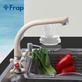 Frap NOVO Multicolor pintura em Spray Torneira Da Cozinha de Água Fria e Quente Torneira Misturadora Dupla Alça 360 Rotação F5408-7/8/10/21/22