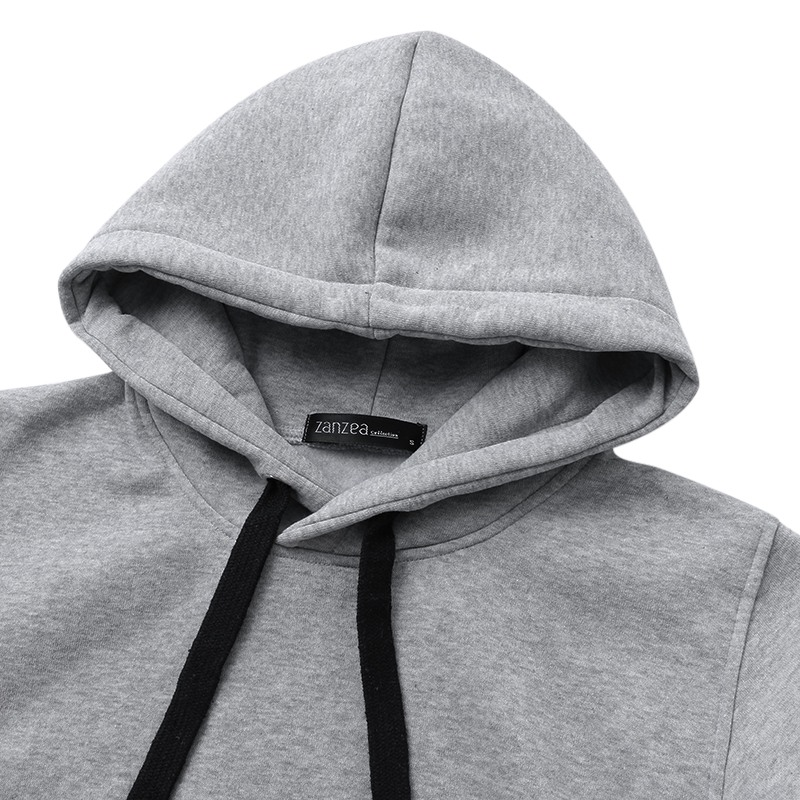 3ee0f0f34e8 ZANZEA Women Hoodies Sweatshirt 2019 Spring Autumn Pullover Casual Loose  Long Sleeve Fleece Warm Hooded Tops Plus Size S 5XL-in Hoodies   Sweatshirts  from ...