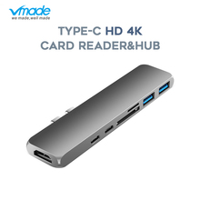 Vmade Type-C USB-C HUB Thunderbolt 3 1080P 4K Power Adapter for MacBook Air 2018 or MacBook Pro USB-C 3.1 to HDMI 7 in 1 Adapter usb 3 1 type c to hdmi type c usb 3 0 4k usb c hub adapter type c extender hd 4k male to female for macbook air converter