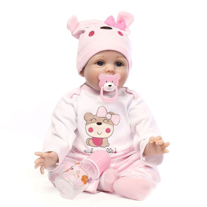 55 cm poupée Silicone souple pour les filles cadeau à la main bébé Adorable poupée enfant en bas âge réaliste