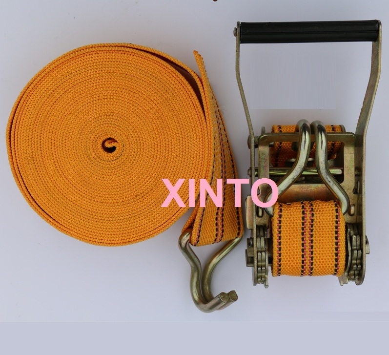 10M 2.5CM,1T Strap belt for Shipping cargo lashing strap sling package ratchet