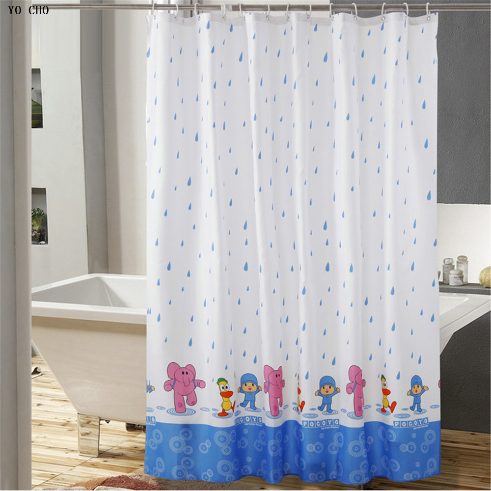 Good quality high grade cartoon bath curtain child cloth elephant polyester waterproof fabric shower curtain bathroom|shower curtain bathroom|curtain bathroom|fabric shower - title=
