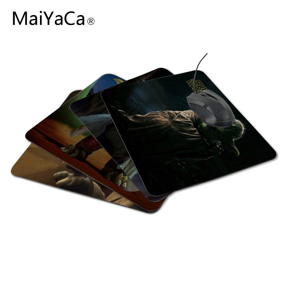 MaiYaCa personnalisé luxe impression Star Wars série Yoda amers de couture antidérapant Durable en caoutchouc tapis de souris pour PC Optal souris