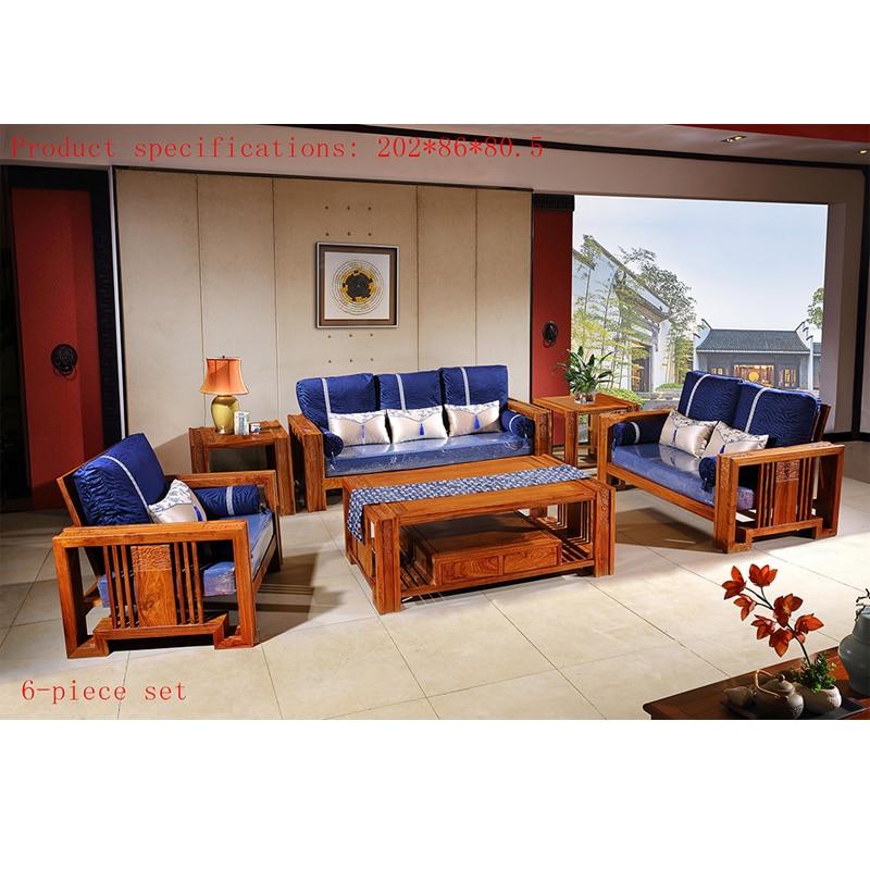 US $10000.0 |6 Pcs/Set Antique Hedgehog Rosewood Sofa Chair Set Custom  Mahogany Furniture Living Room Rectangle Square Solid Wood Tea Table-in  Living ...