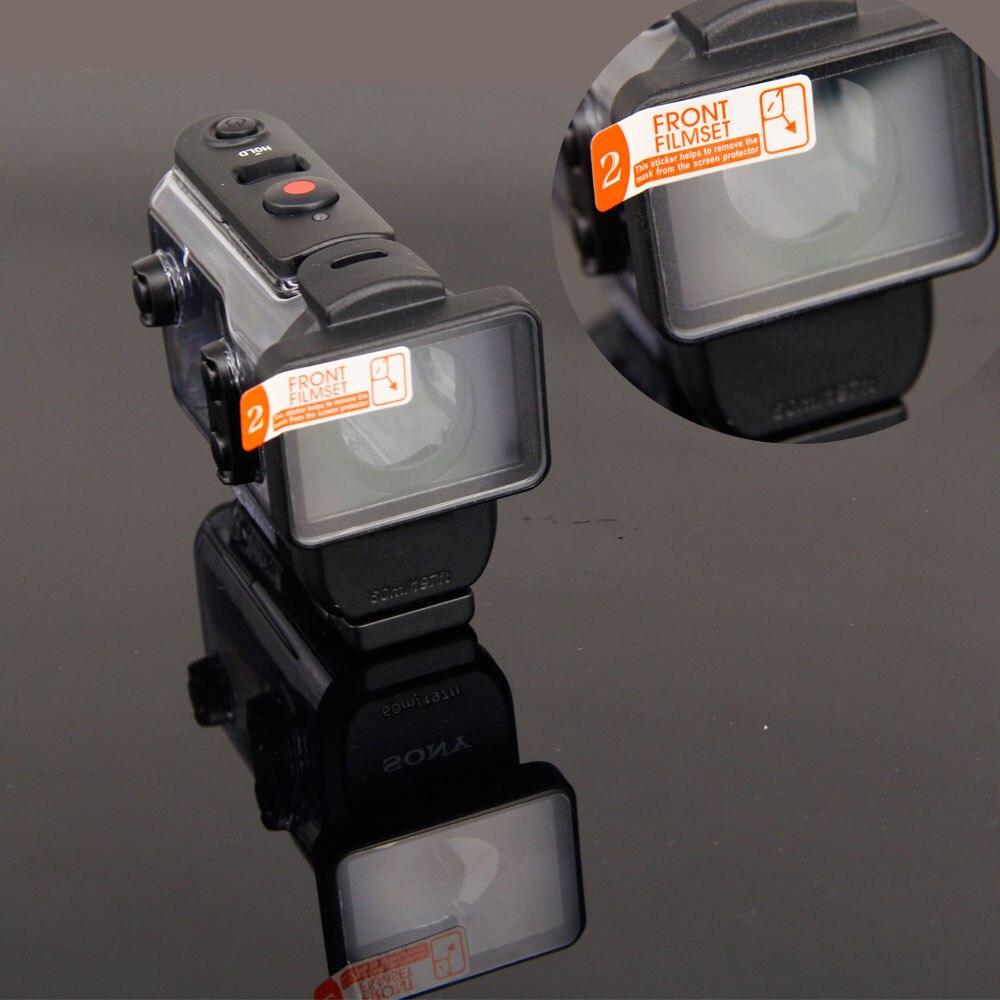 Pour sony action cam HDR-AS300r AS50v FDR-X3000R Accessoires Pour Objectif Clair Protecteur Film Pour AKA-MCP1 MPK-UWH1